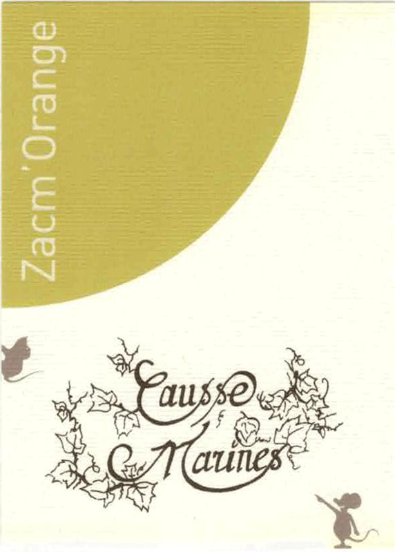 etiquette de bouteille zacmorange